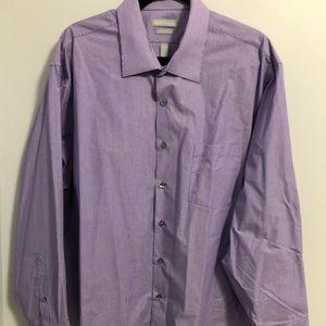 Men's dress shirt by Van Heusen purple pinstripe